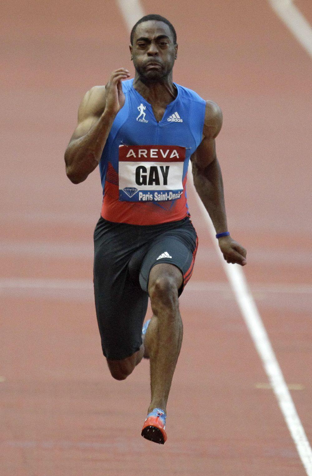 Tyson Gay, #100m; 9.69 #USA