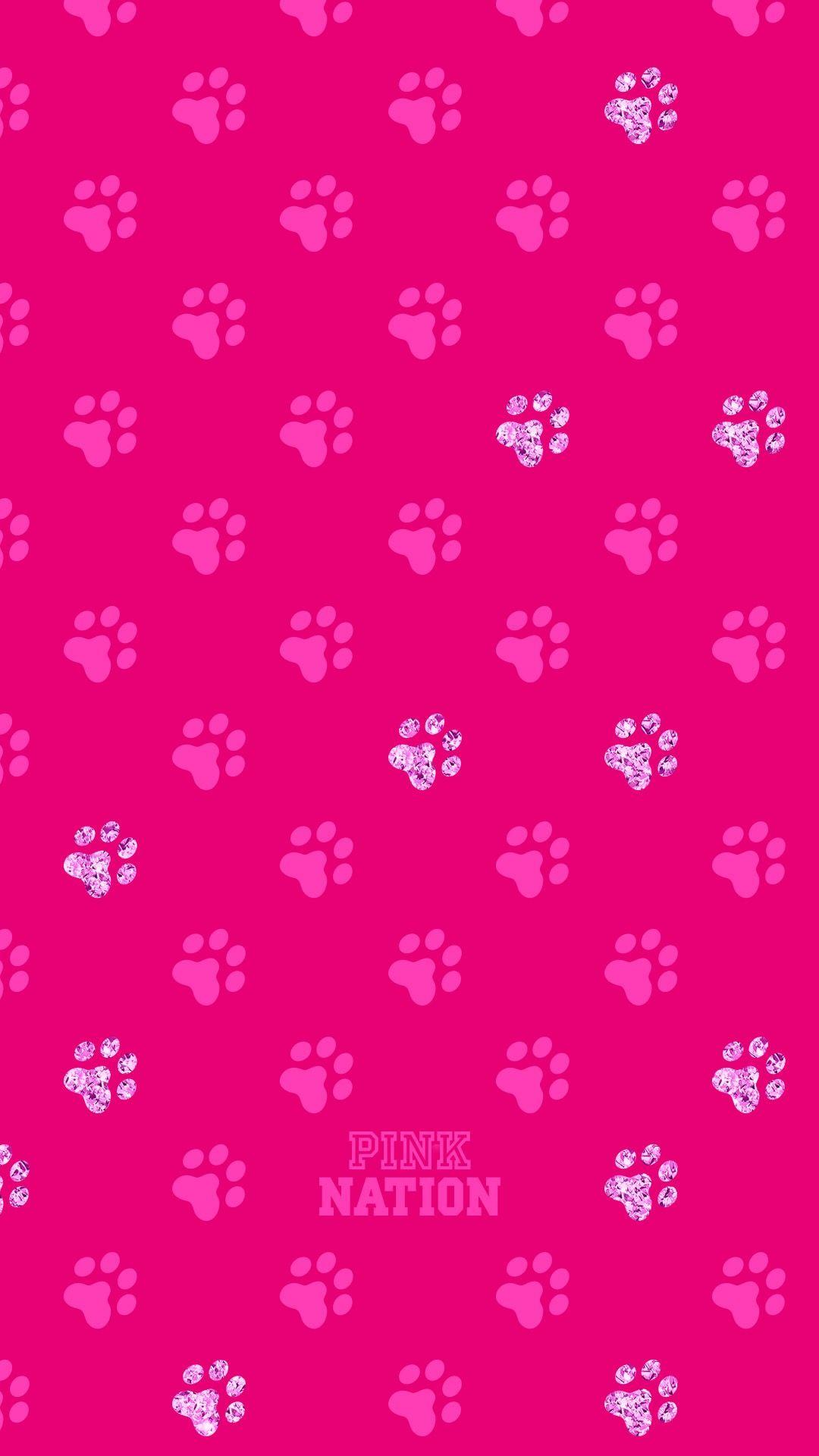 a062fa409e Victoria Secret Pink Vspink dog print wallpaper iPhone background 2018 paw