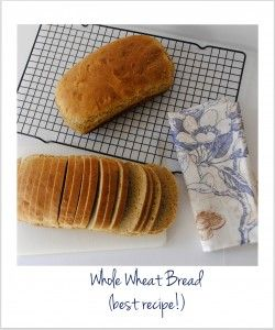 Whole Wheat Sandwich Bread - best sandwich bread recipe...and for $1.20 per loaf, healthy food doesn't have to be more expensive.  :)