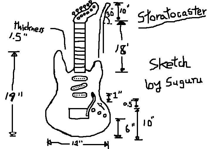Fender Stratocaster Body Dimensions