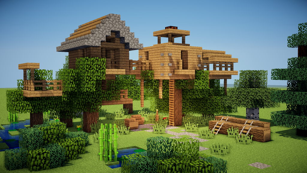 Minecraft Train Station Building Tutorial