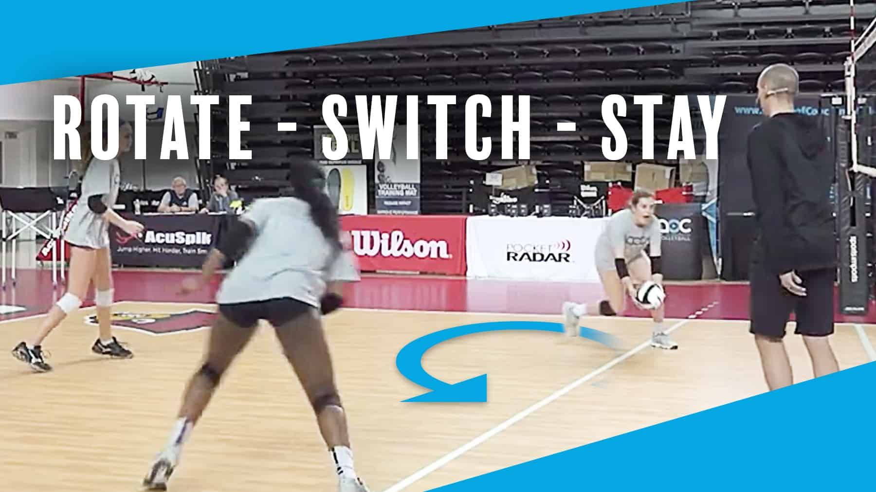 Rotate Switch Stay Defensive Drill To Improve Movement The Art Of Coaching Volleyball Volleyball Drills Volleyball Workouts Coaching Volleyball