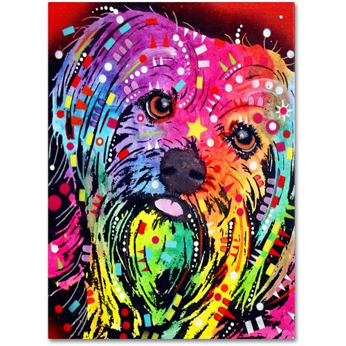 Trademark Fine Art Yorkie Canvas Art By Dean Russo Walmart Com