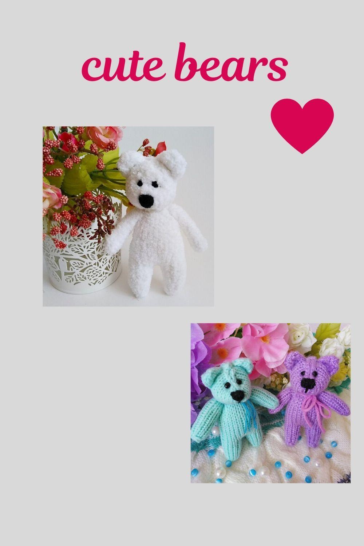 Handmade soft toy Cute Teddy Bear polar stuffie plush