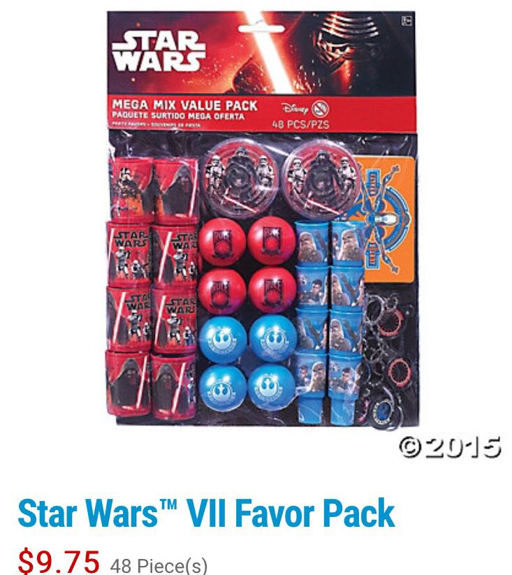 Star Wars Temporary Tattoos Birthday Party Pack Loot Bag Fillers