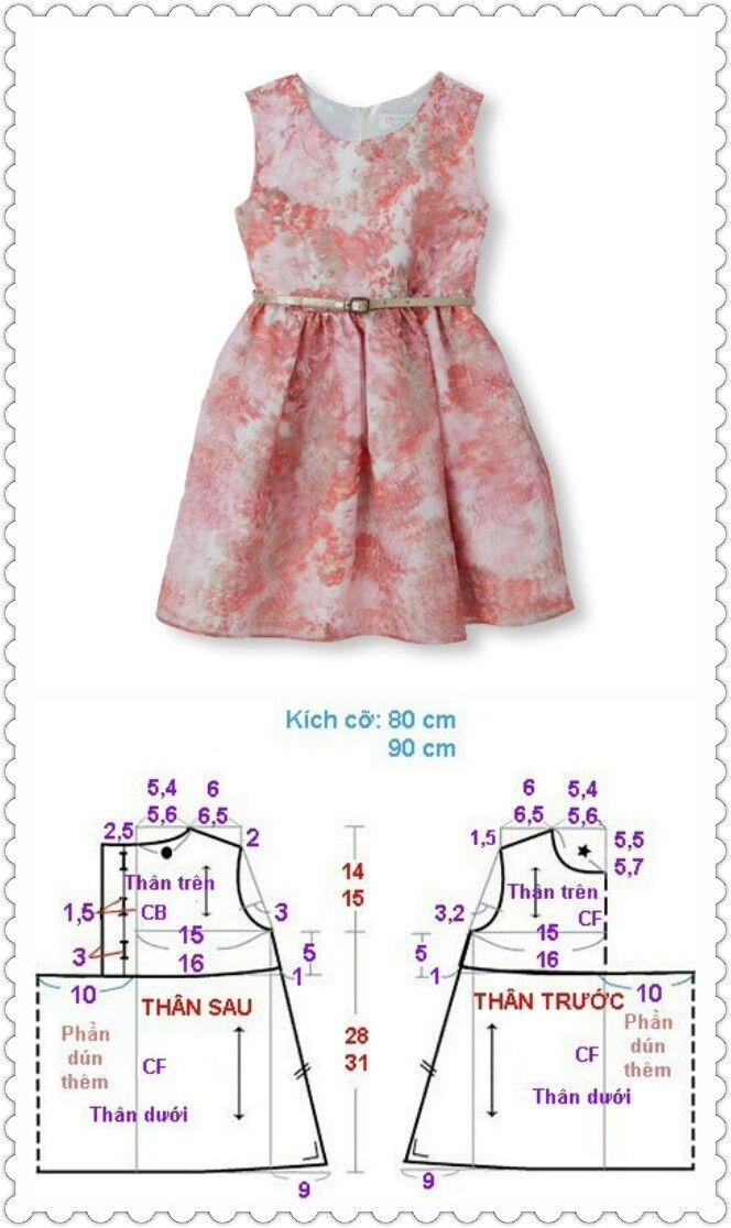 Dress kids | Baju anak | Pinterest | Costura, Patrones y Molde