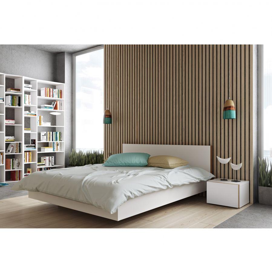 bett elodea - weiß - 180 x 200cm - weiß / hellbraun | schlafzimmer, Schlafzimmer entwurf