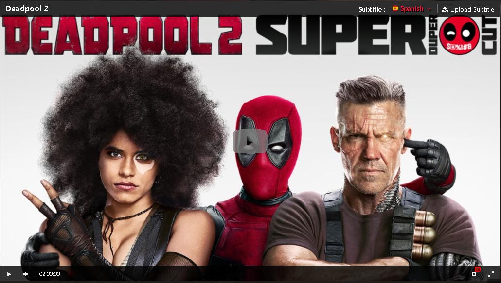 Hd Deadpool 2 2018 Pelicula Completa En Espanol Gratis Deadpool 2 Movie Deadpool Movie Man Movies