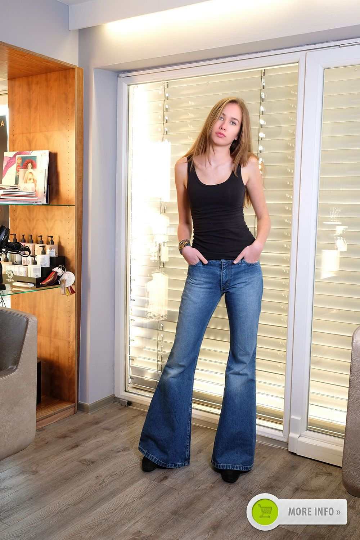 Schlaghose Jeansschlaghose Comycom Jeans Schlaghose Star