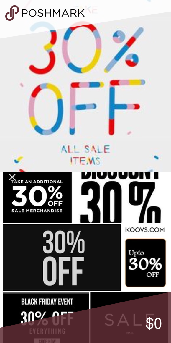 Hi ladies take 30% off on one item or bundle Look 🎉🎉🎉👆👆👍 All item and brand  Other