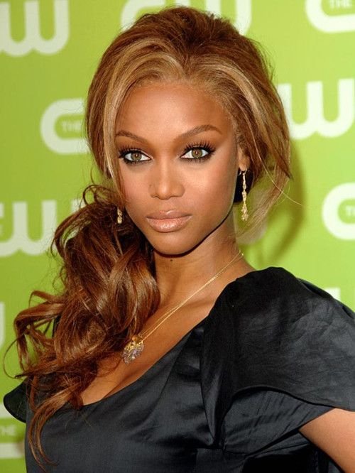 Tyra Banks Puff Side Ponytail Hair Sytle Goes Around Comes Back