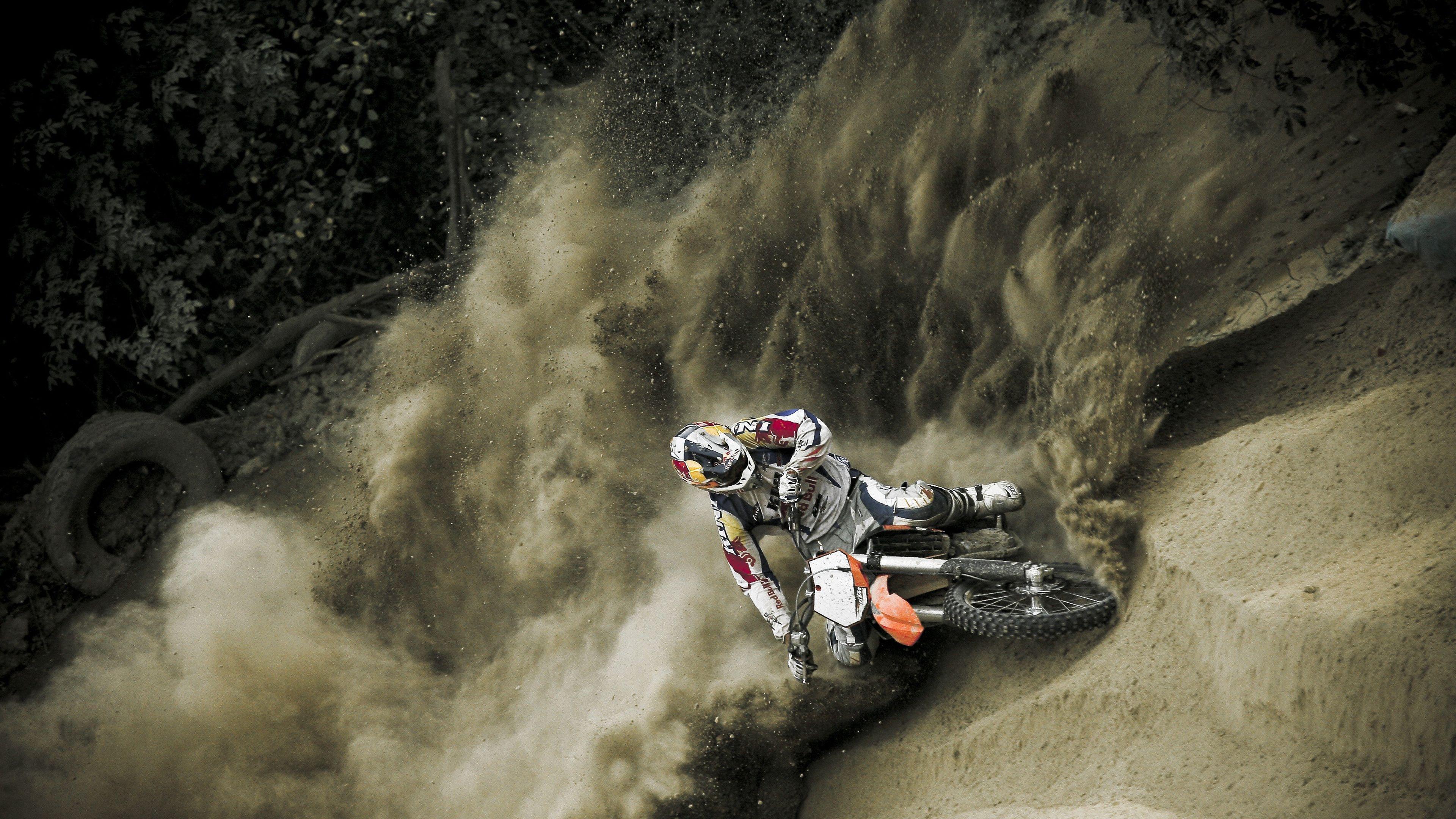 Dirt Bikes Hd Wallpapers: Redbull Dirt Bikes Hd 4K Wallpaper