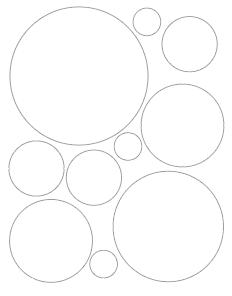 Free Printable Circle Templates Large And Small Circle Stencils The Artisan Life Printable Circles Circle Template Free Stencils Printables Templates