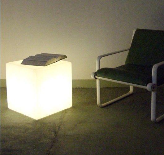 Indoor Cube Floor Lamp / Side Table (£132) | Lighting | Pinterest ...