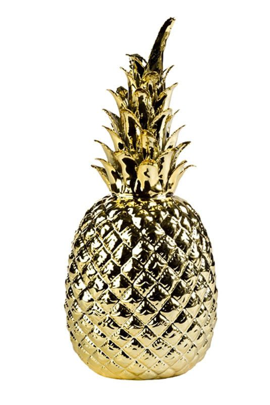 holly's house - gold pineapple ornament http://www.hollys-house