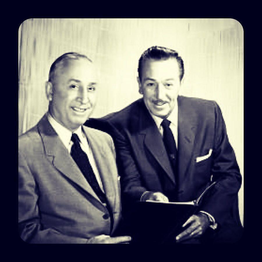 Walt Disney with his older brother, Roy O. Disney.