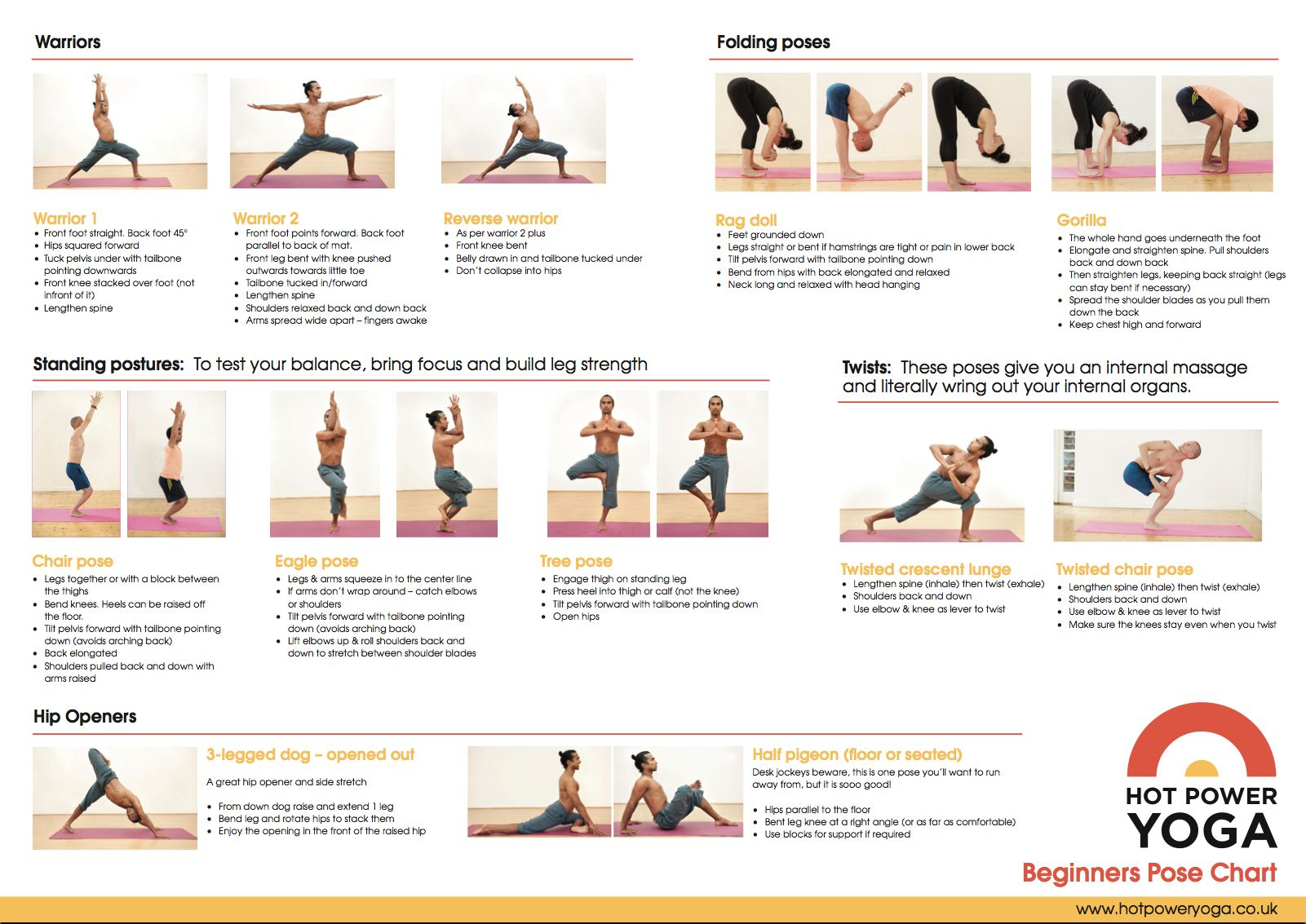 Yoga Poses For Beginners At Home Chart