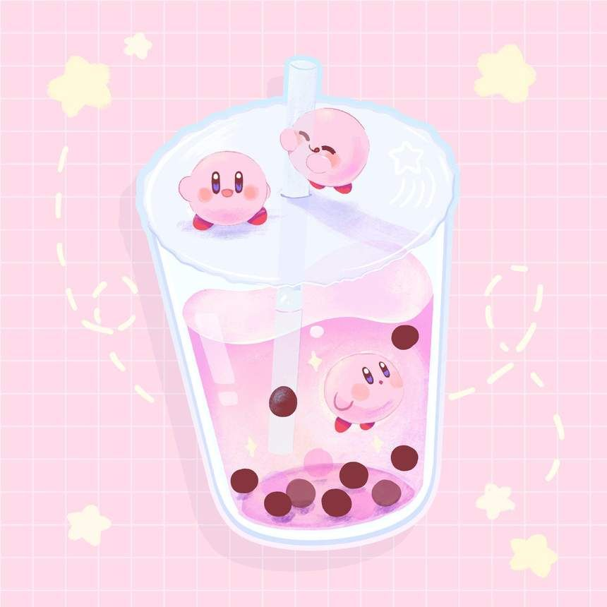 Kirby Galaxy Boba Milk Tea 1.5