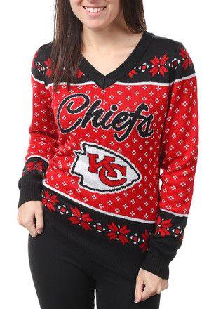 4863e2ce KC Chiefs Womens Red Big Logo Sweater | NFL - Kansas City Chiefs ...