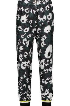 Marni Printed silk-blend tapered pants | THE OUTNET