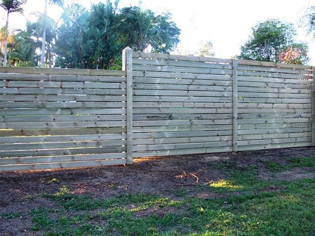 Horizontal Pine Slats With Timber Feature Posts