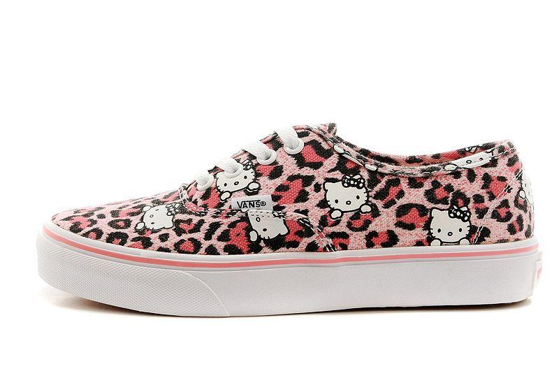 2014 Vans Authentic Classic-Leopard Hello Kitty Grils Low Shoe