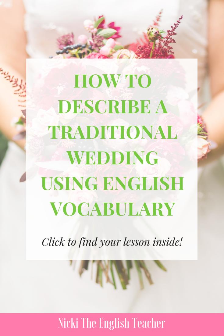 use english wedding vocabulary like a pro teasl ideas pinterest