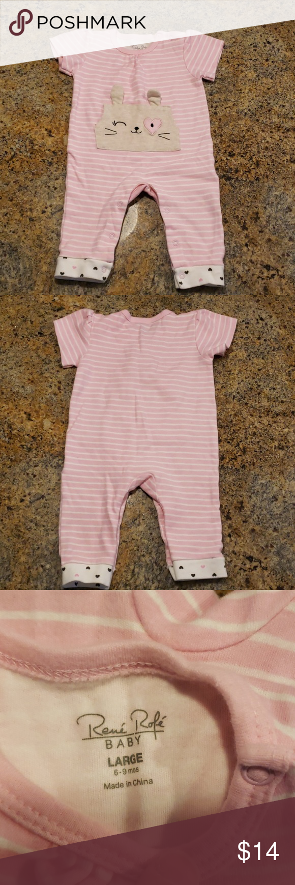 44e5398f6 Rene Rofe One Piece Outfit with Matching Bib Rene Rofe One Piece Outfit  with Matching Bib