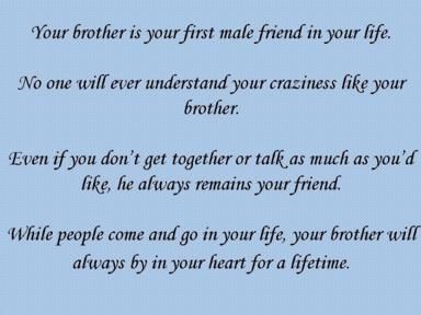 A Brothers Love With Images Brother Quotes Sister Quotes
