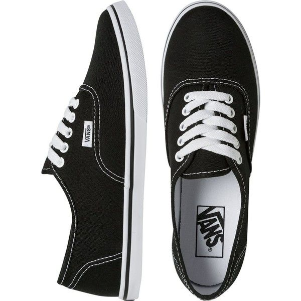 VANS Authentic lo pro shoe (1.270 UYU) ❤ liked on Polyvore featuring shoes, sneakers, vans, flats, lace up shoes, lace up flats, flats sneakers, low profile sneakers and lightweight shoes