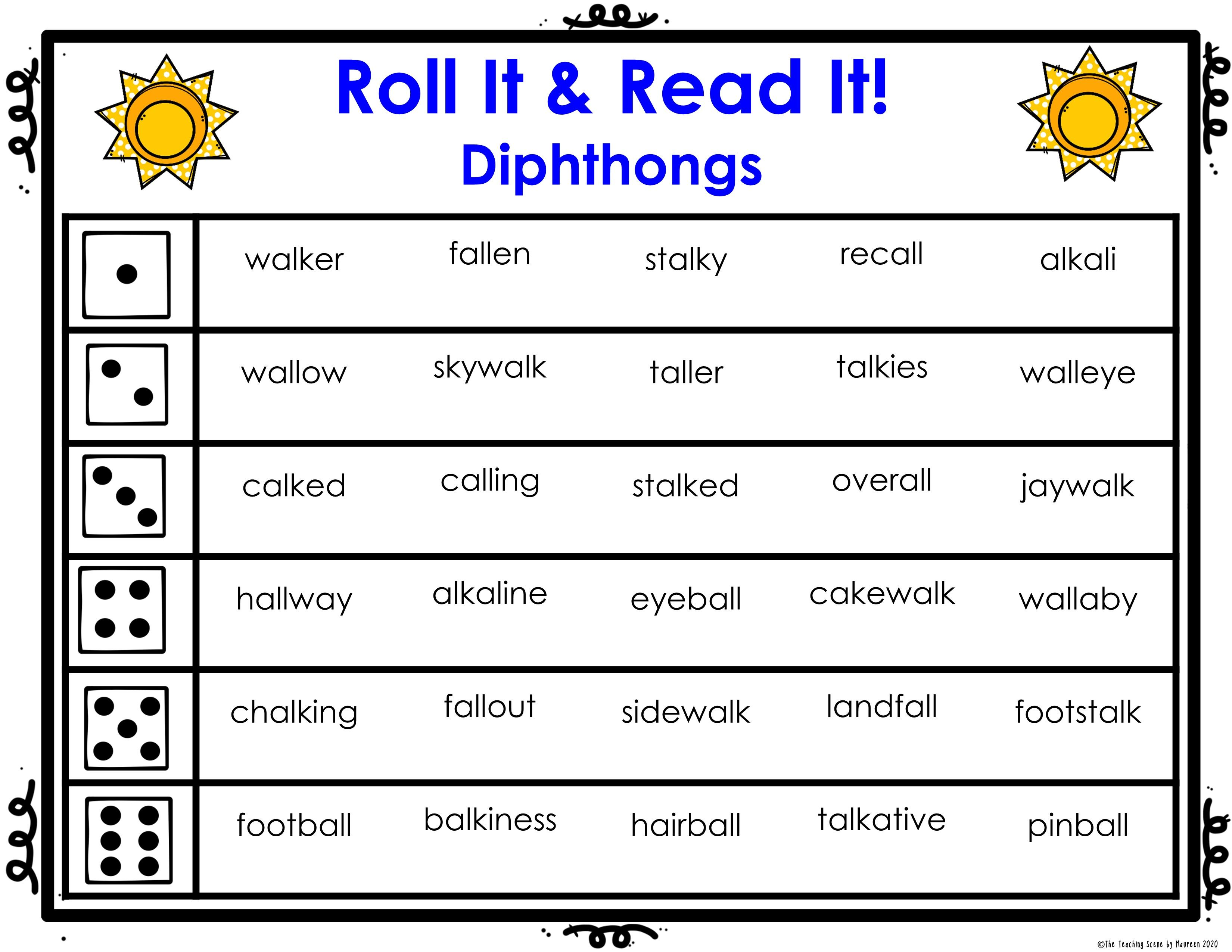 Diphthong Sentence Worksheets   Printable Worksheets and Activities for  Teachers [ 2550 x 3300 Pixel ]
