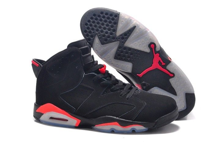 $103.09 Nike Air Jordan 6 Black Red Xi Mens Shoes Size 14 15 16 Gray |