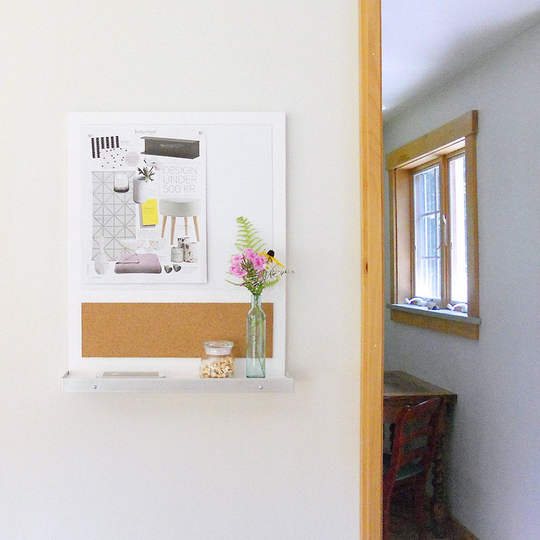 Whiteboard for Kitchen Wall Message Center