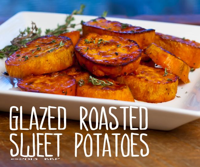 Ad Maple Thyme Glazed Roasted Sweet Potatoes And A Pam And Le Creuset Giveaw Sweet Potato Recipes Roasted Oven Roasted Sweet Potatoes Grilled Sweet Potatoes