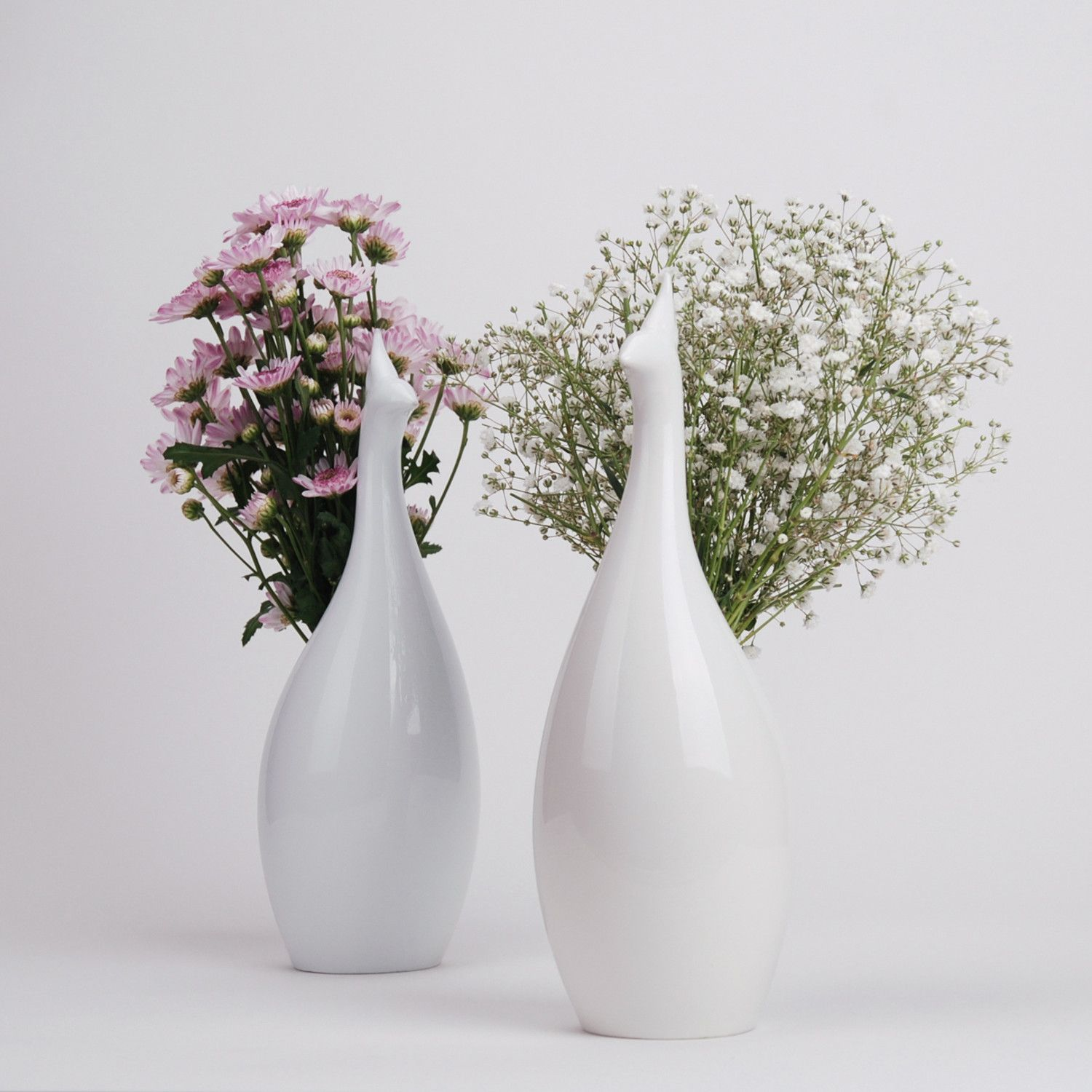 Peakco flower vase beauty and function great combination my peakco is a flower vase inspired by the majestic peacock colorful flowers bloom in the darling white ceramic sculpture expressing the shape of the birds reviewsmspy