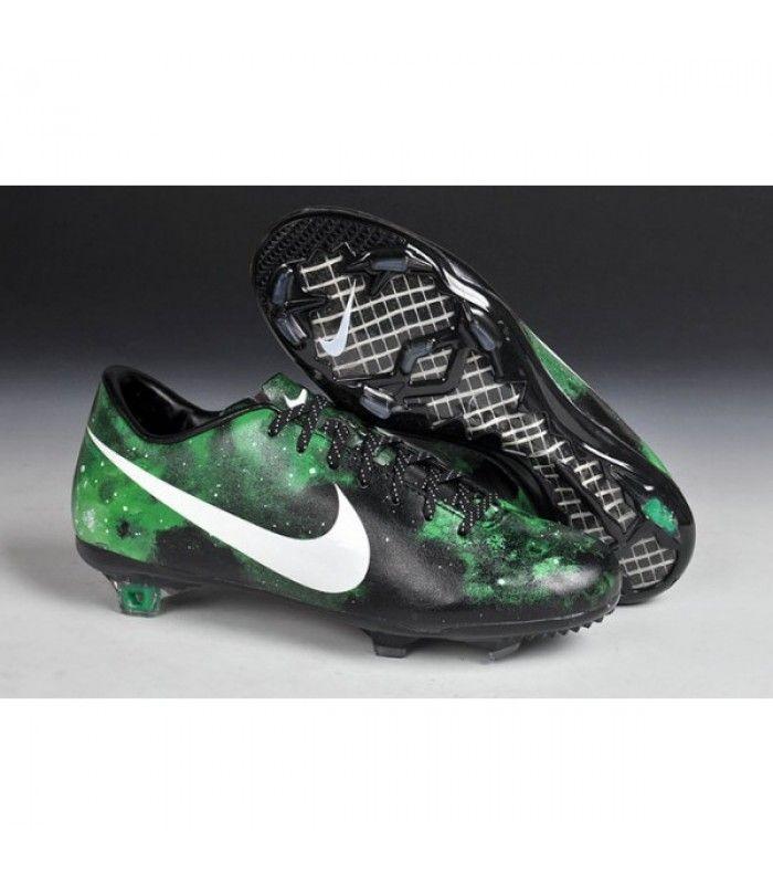 finest selection b30be 920c7 Acheter 2015 Crampons Hommes Nike Mercurial Vapor 9 FG Galaxie Vert Noir  Blanc pas cher en