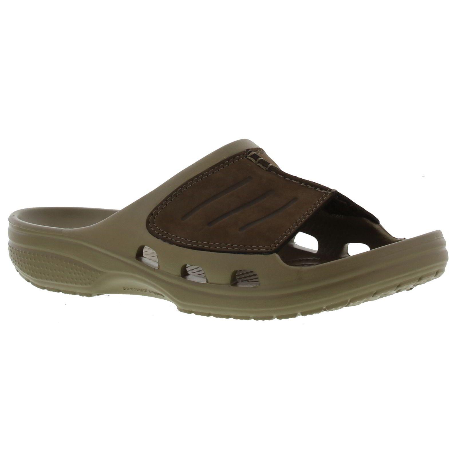2a0fbebb7aaa Crocs Mens Yukon Mesa Slide FlipFlop - Khaki Espresso