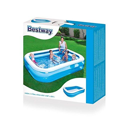 Bestway Family Pool Blue Rectangular, 262x175x51 Cm: Amazon.de: Garten