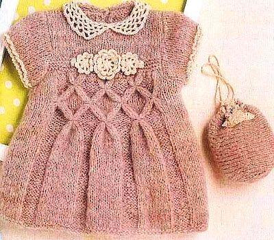 Платья спицами для девушек