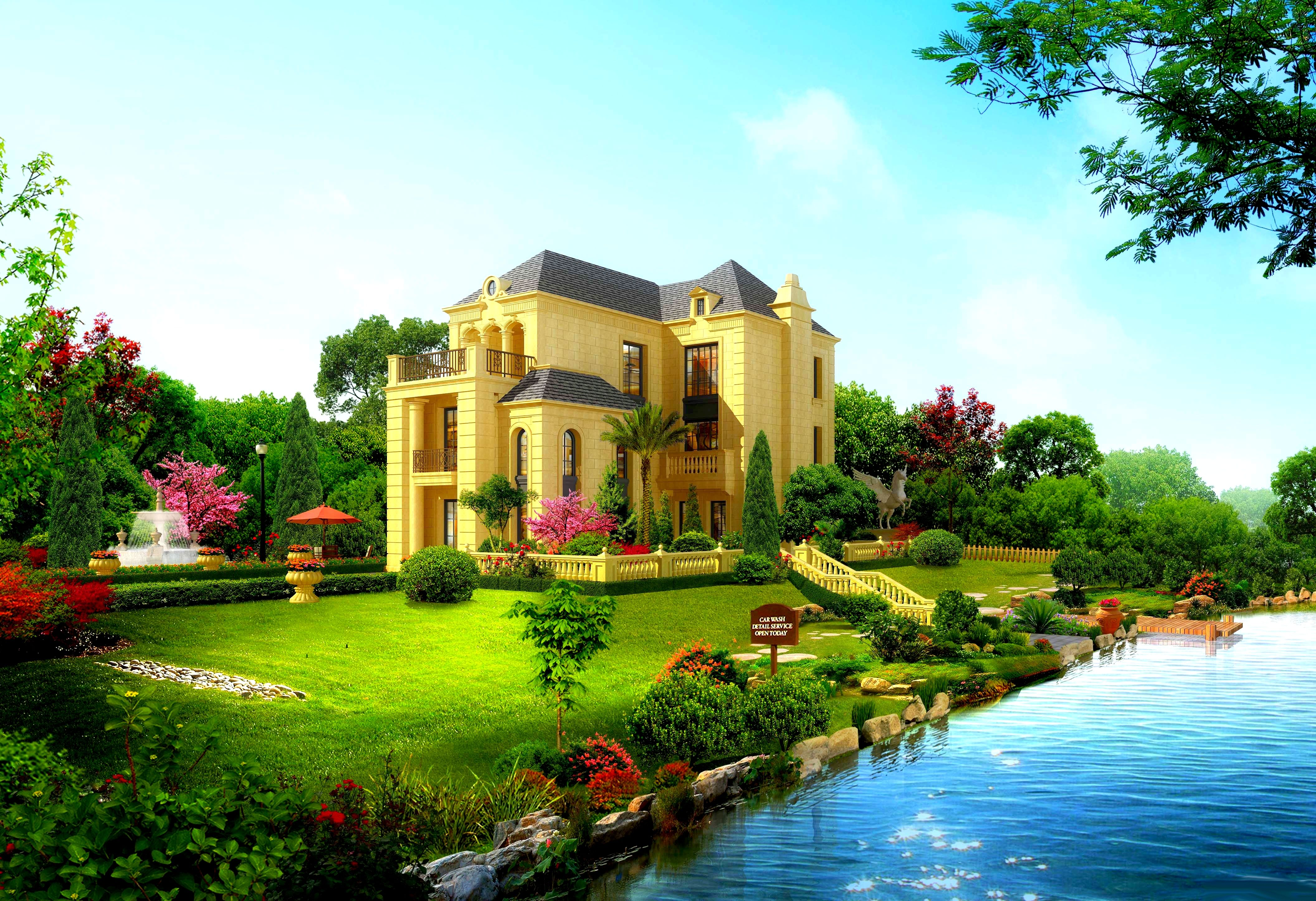 Beautiful House With A GardenBest Beautiful house2017