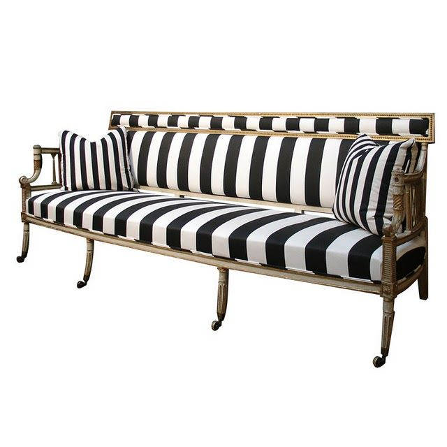 Vintage Striped Settee Ill Take One In Sunbrella Please