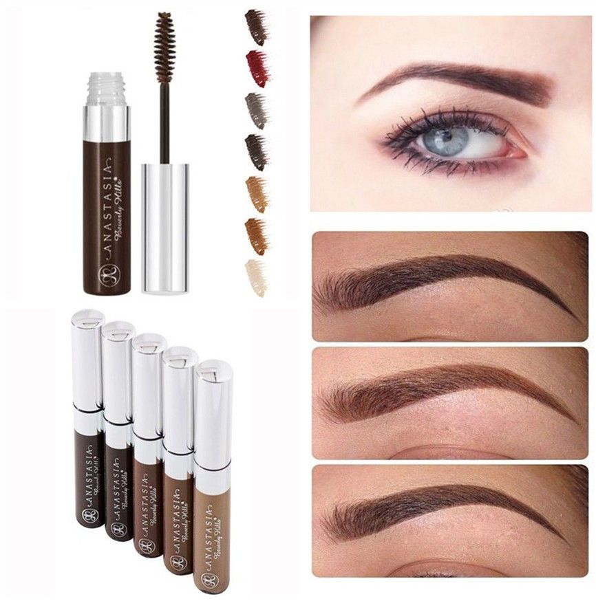 Tinted Eyebrow Fashion 6colors Long Lasting Brow Gel Tame Mascara
