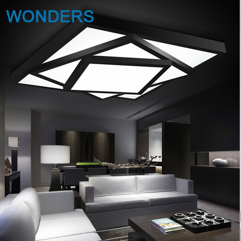 Modern led ceiling light rectangle restaurant lamp dimming brief