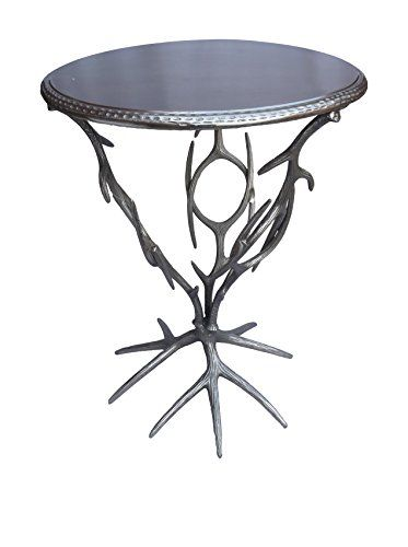 Coast to Coast Antler Metal Accent Table, Silver