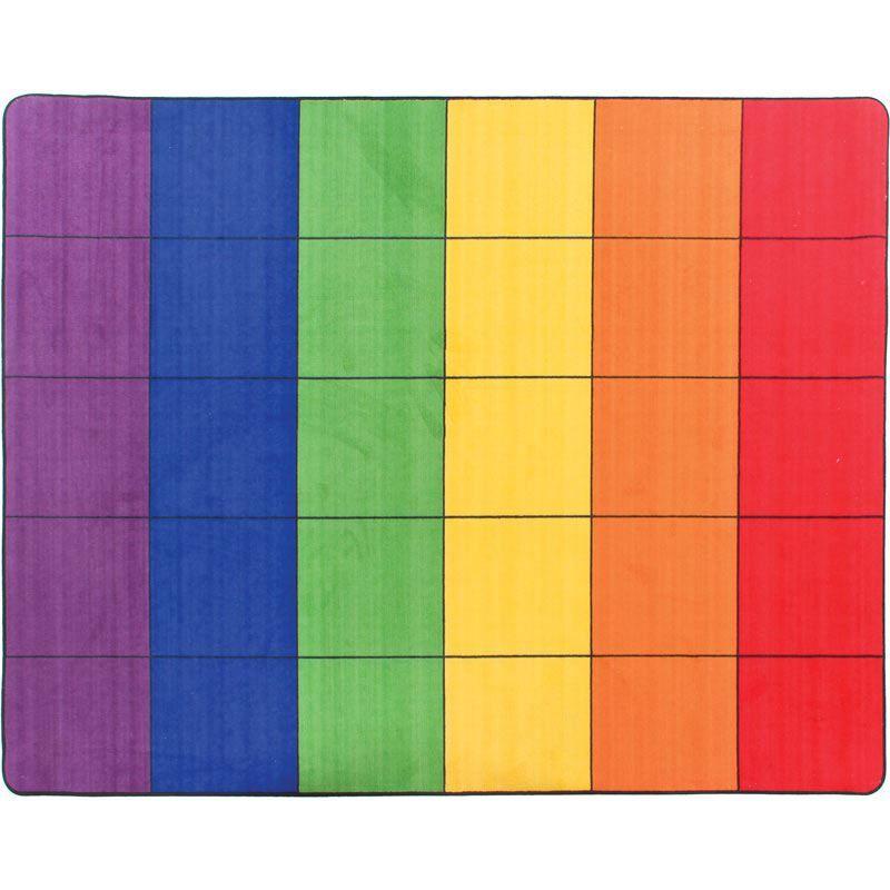 7 6 Group Colors Rug 6 Colors 30 Squares Classroom Rug Classroom Carpets Rainbow Rug