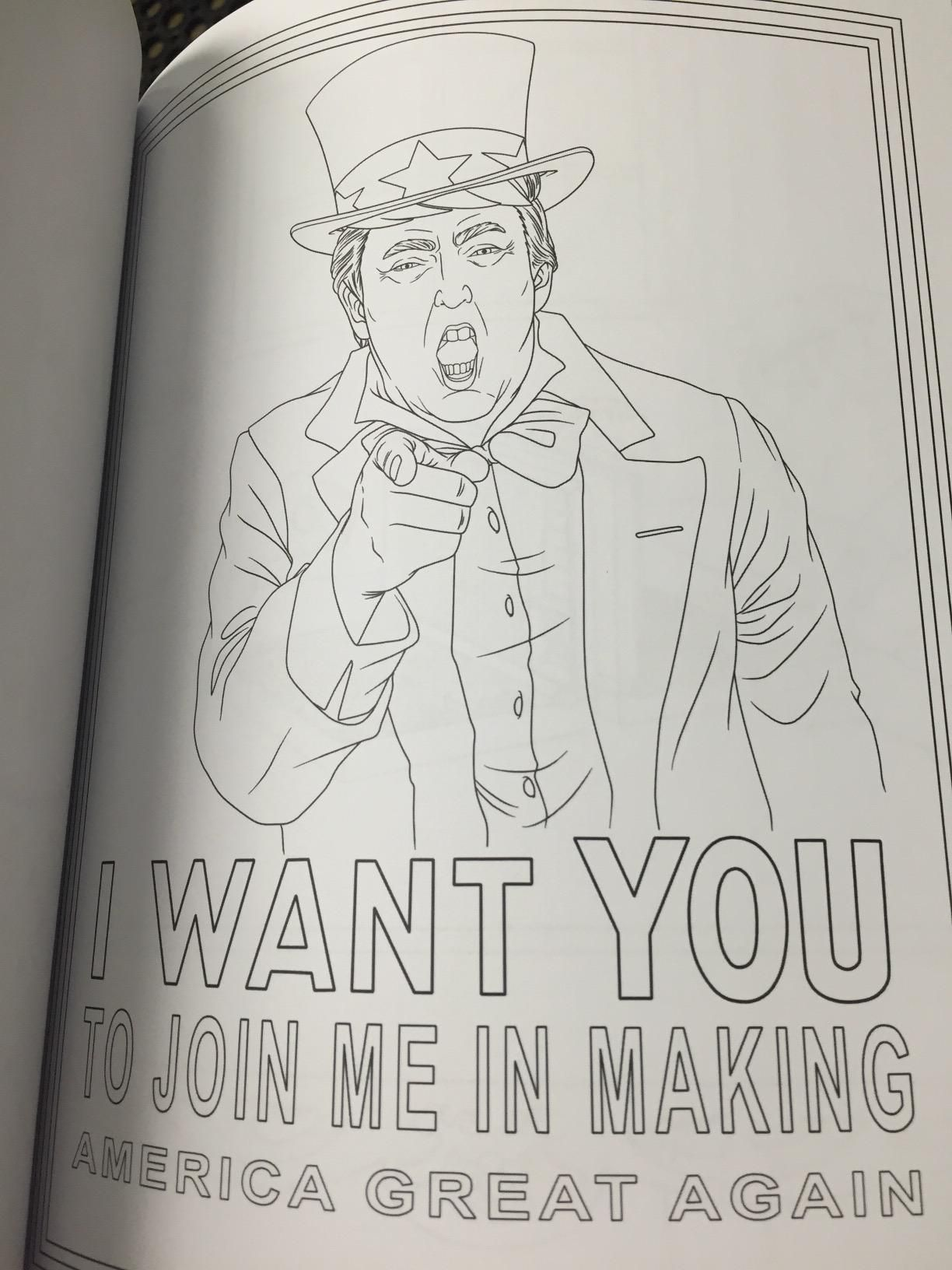 amazon prime now the trump coloring book 9781682610282