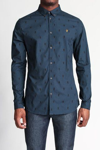 Horace L/S Slim Fit Shirt Button Down Shirt - Farah -