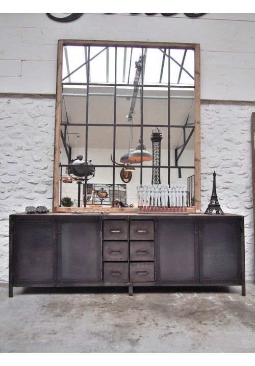Room Industrial Metal Sideboard