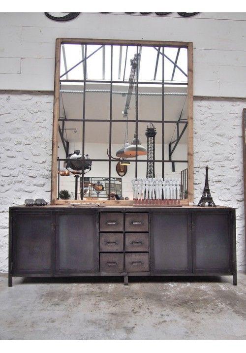 Room Industrial Metal Sideboard