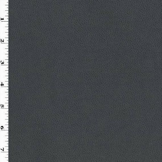Photo of Deep Storm Grey Faux Leather, Fabric By The Yard